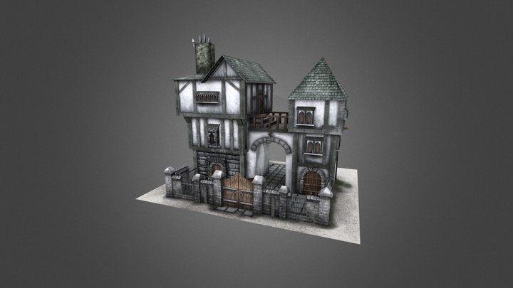 Medieval House 04 3D Model