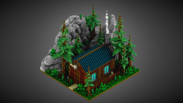 Cabin in the woods 3D Model