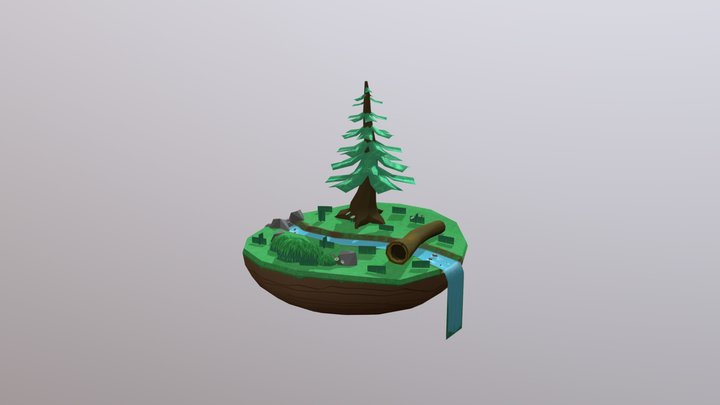 Mini-Forest - Hand Painted Test 3D Model