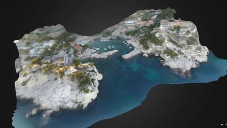 Marseille 2016 - Calanque of Niolon (FRANCE) 3D Model