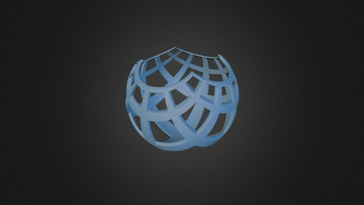 Stereographic Projection 3D Model