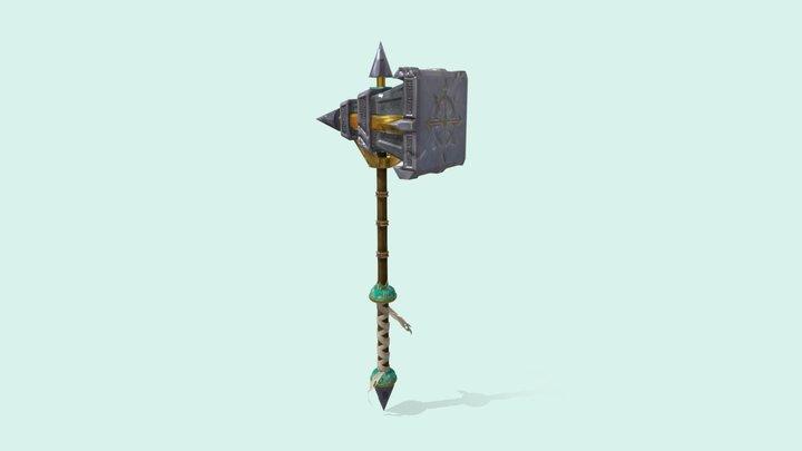 TP3 - Arme - Marteau du Chaos 3D Model