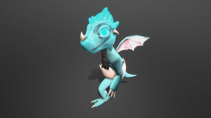 Baby Egg Dragon - Character Design for Game 3D Model