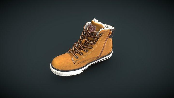Winter Shoe 3D Model