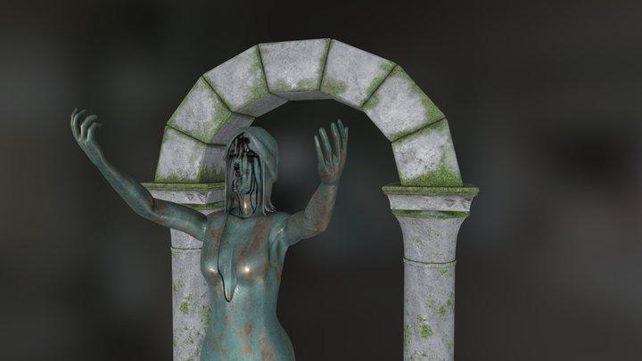 Old Copper Statue 3D Model