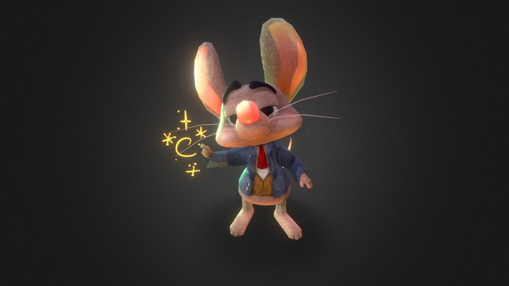 Oliver the great magician 3D Model