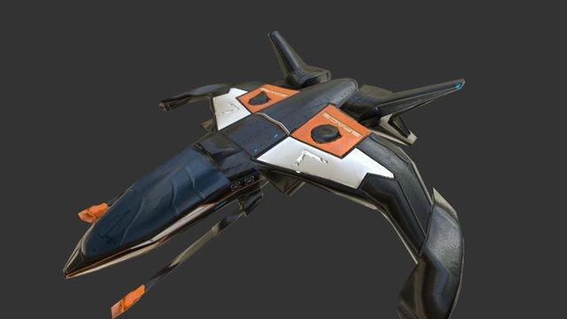 Death Row Spaceship 3D Model