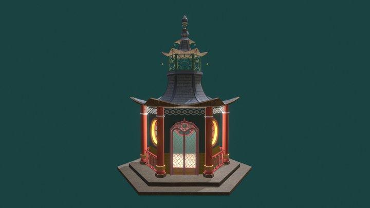 Chinese Summerhouse 3D Model