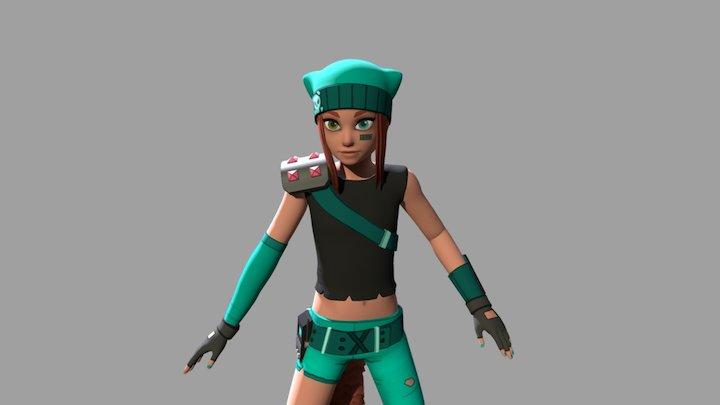 Wolfgirl (Bulletville) 3D Model