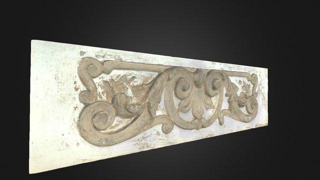Detalhe da faixada do prédio do ICBS UFRGS 3D Model