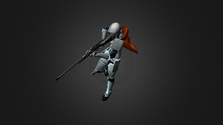 Cyborg Soldier 3D Model