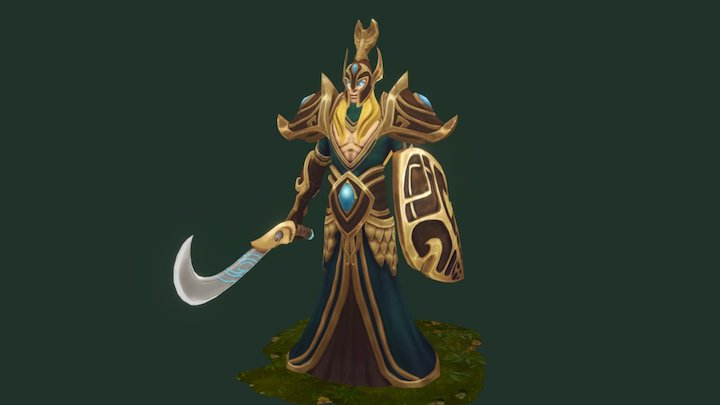 Elf Lord 3D Model
