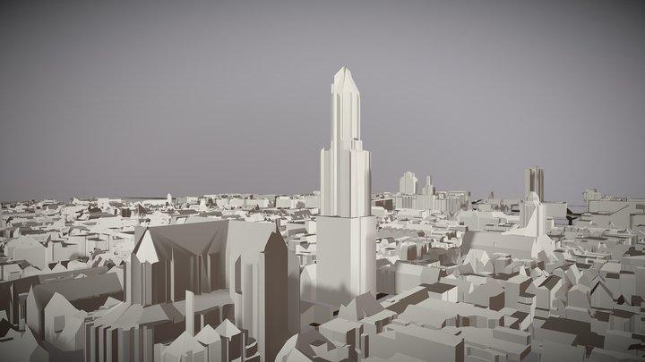 Utrecht 3D city model 3D Model