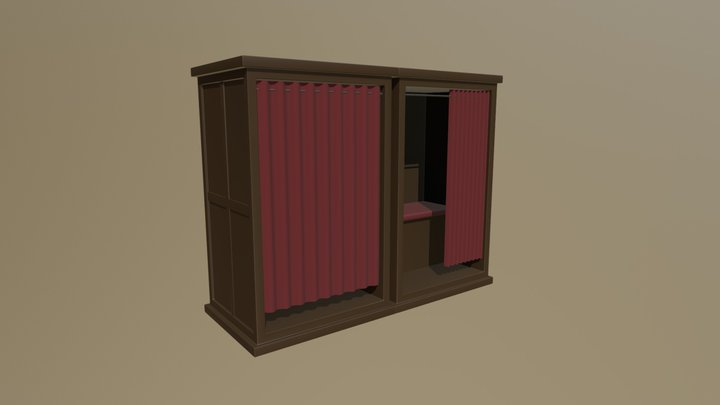 Church Confession Box V2 3D Model