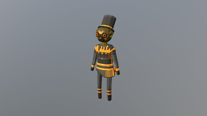 Lemur Gold 3D Model