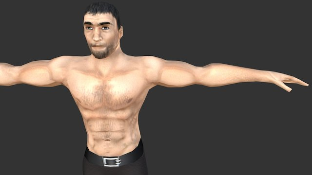 No-name Character for Dungeon Crawler Game 3D Model