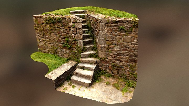 Little Medieval Steps - Fougères Castle 3D Model