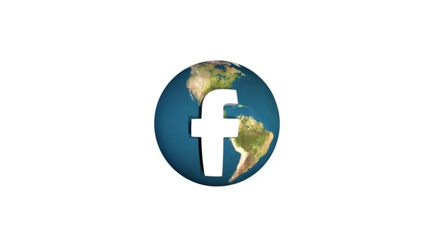 FB Icon Globe 3D Model