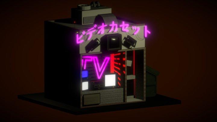 TV VHS rent & repair store 3D Model