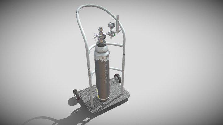 o2 cylinder for medical Low-poly 3D model 3D Model