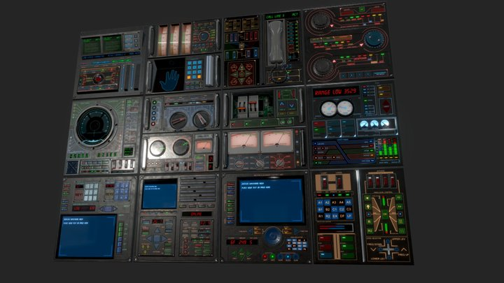 Control Panel pack 3D Model