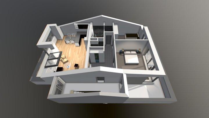 Byt Podkrovi B 3D Model