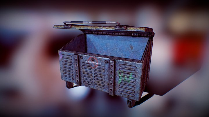 Rusty old dumpster 3D Model