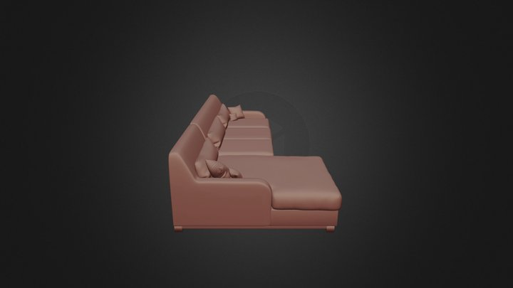 Couch 1_5 3D Model