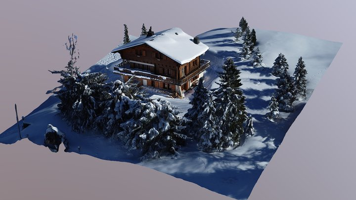 Swiss Alps Chalet 3D Model
