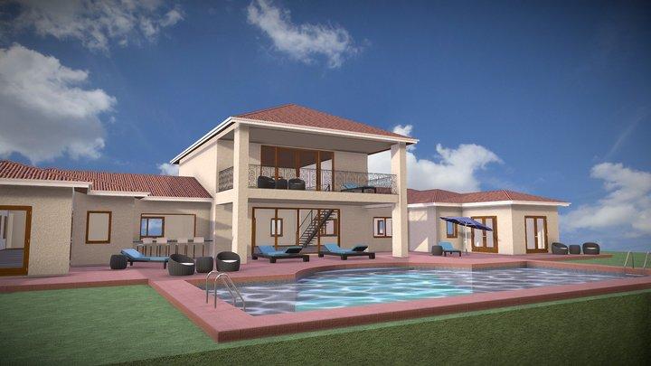 Costa Rican Estate 3D Model