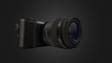 Sony A5100 Camera With Animation. 3D Model