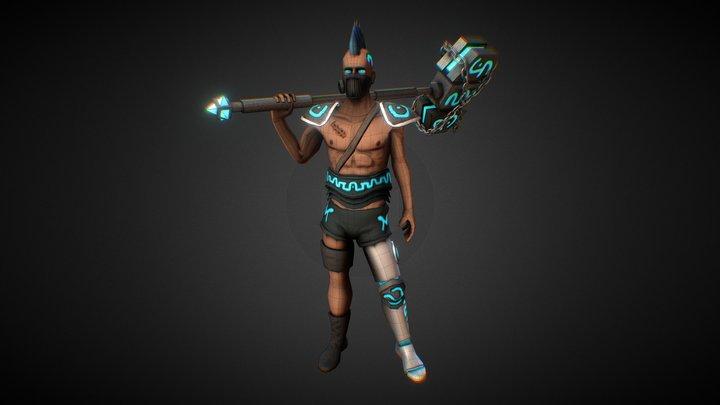 Fisk - Cyborg Guardian 3D Model