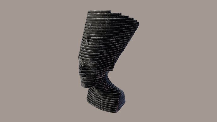 Rusty Nefertiti 3D Model