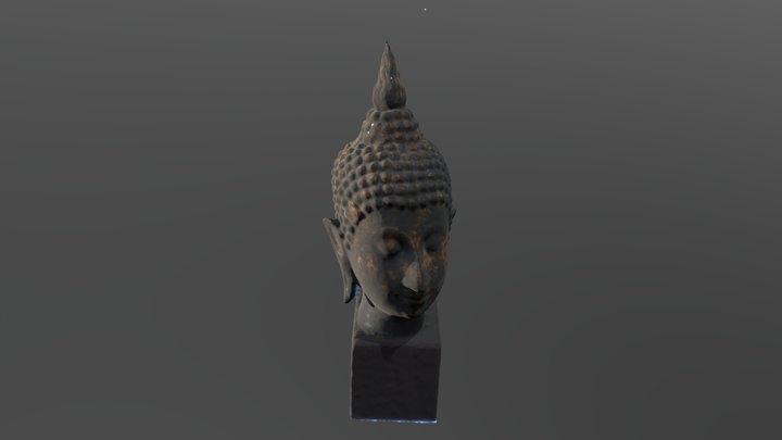 bouddha tête en  bronze 3D Model