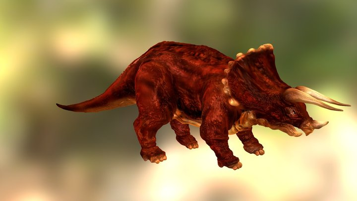 Replace Triceratops Zbrush 3D Model