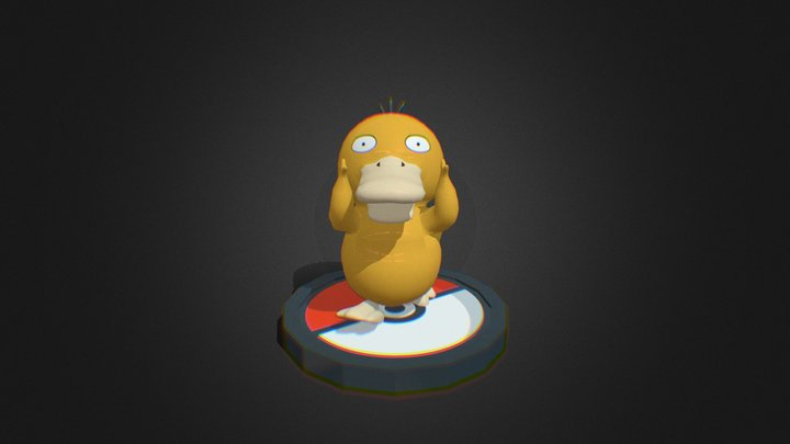 Psyduck Low Poly 3D Model