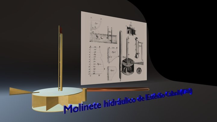 MOLINETE HIDRÁULICO DE ESTÊVÃO CABRAL (1786) 3D Model