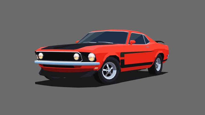 Ford Mustang '69 3D Model