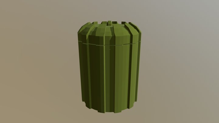 Simple trash bin 3D Model