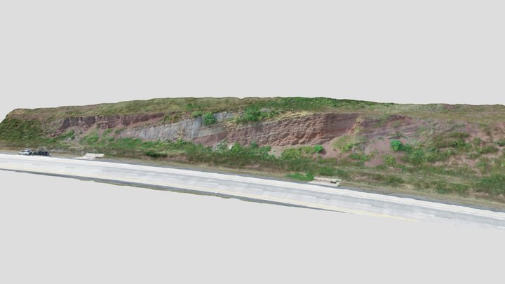 Limestone within the Mauch Chunk Formation 3D Model