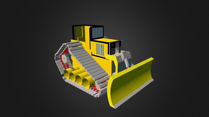bulldozer case 3D Model