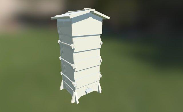 Barcelona Warré Beehive 3D Model