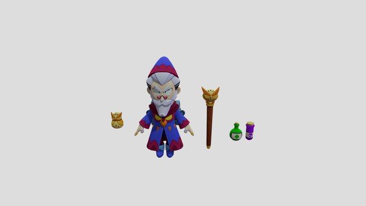byron wizard for renders - with bones 3D Model