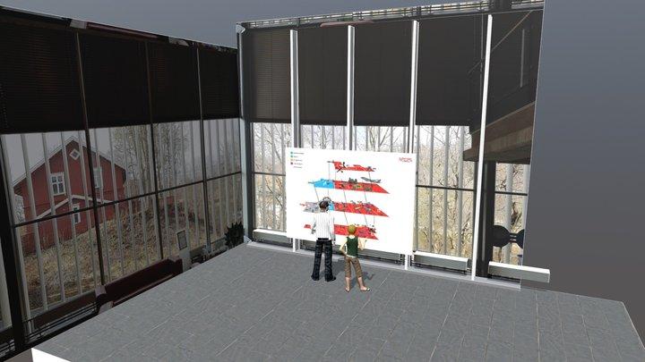 NTM stort kart 3D Model