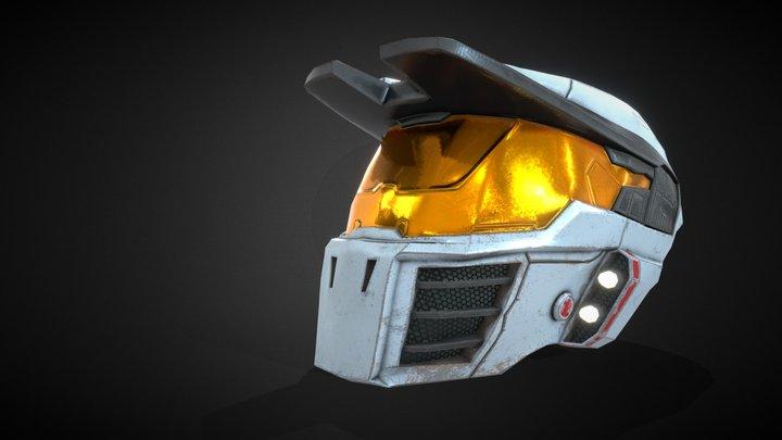 Halo Mark IV Helmet 3D Model