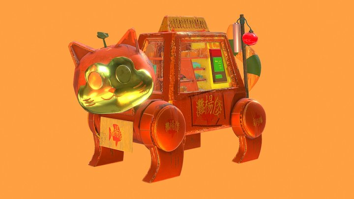 Neko - Fish Vending Machine 3D Model