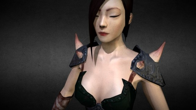 Chinese Female Fighter 3D Model