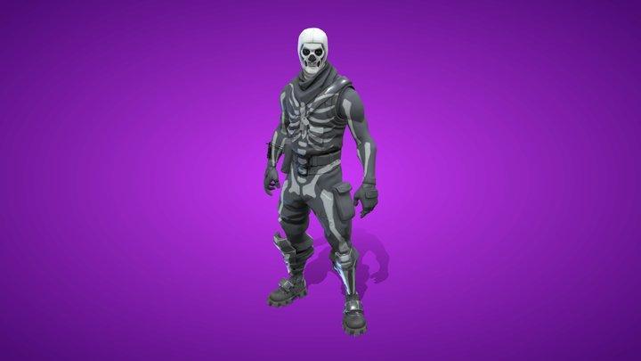 Skull Trooper Outfit 3D Model