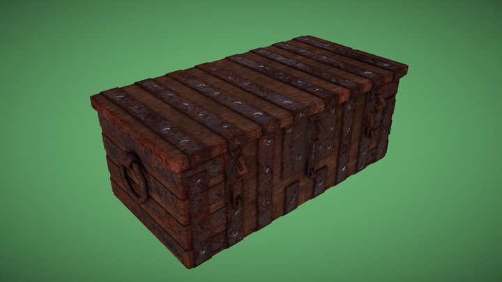 Medieval Treasure Chest - animated 3D Model