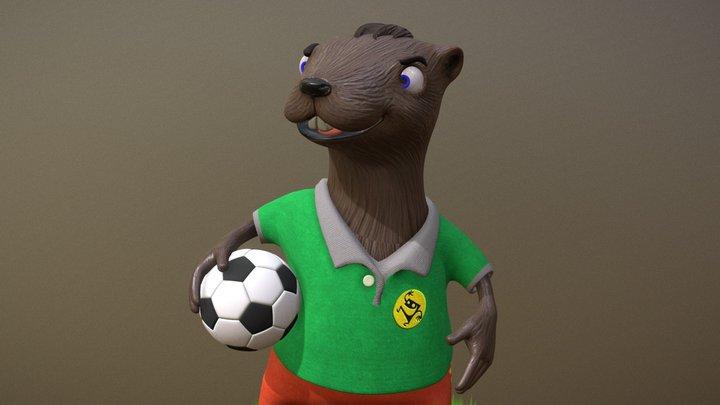 Soccer Beaver 3D Model